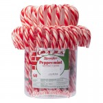 Candy Canes Eimer mit 60 Candy Canes Peppermint