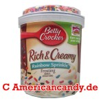 Betty Crocker Rich & Creamy Rainbow Sprinkle Frosting 453g