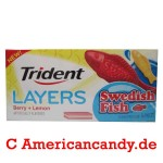 Trident Layers Swedish Fish Berry + Lemon 14er