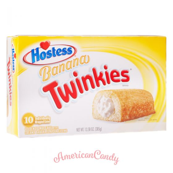 Hostess Banana Twinkies (10 single Cakes) 385g