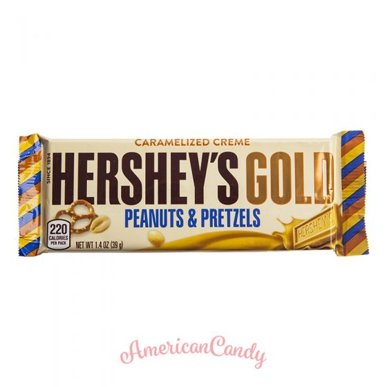 Hershey's Gold Peanuts and Pretzels Caramelized Creme