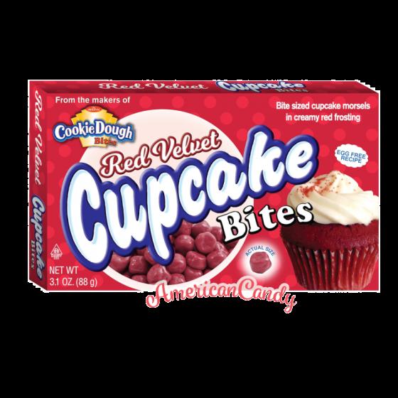 Red Velvet Cupcake Bites Theater Box