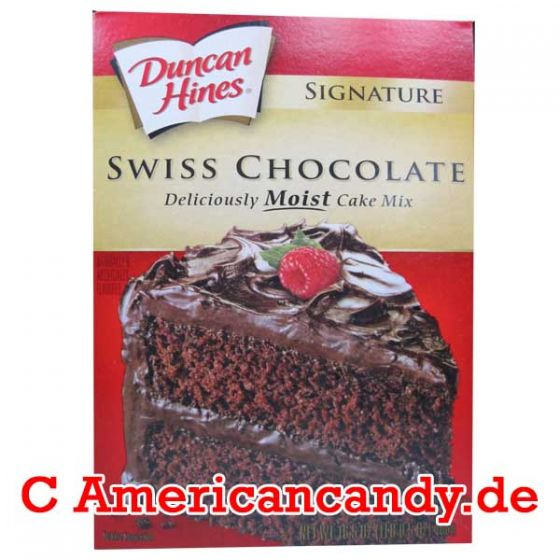 Duncan Hines Swiss Chocolate Moist Cake Mix 468g