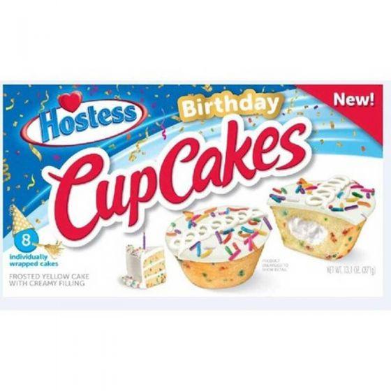 Hostess Birthday Cup Cakes 8er (8 single Cakes) 371g