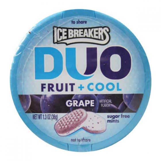 Ice Breakers Mints DUO Fruit + Cool Grape sugar free