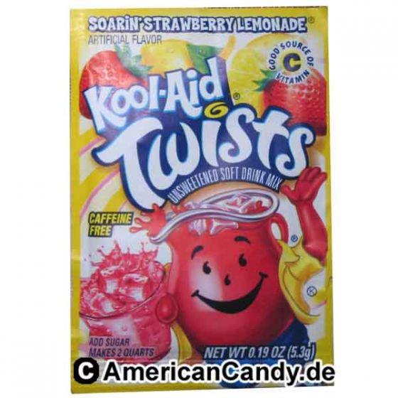 Kool Aid Twists Soarin' Strawberry Lemonade