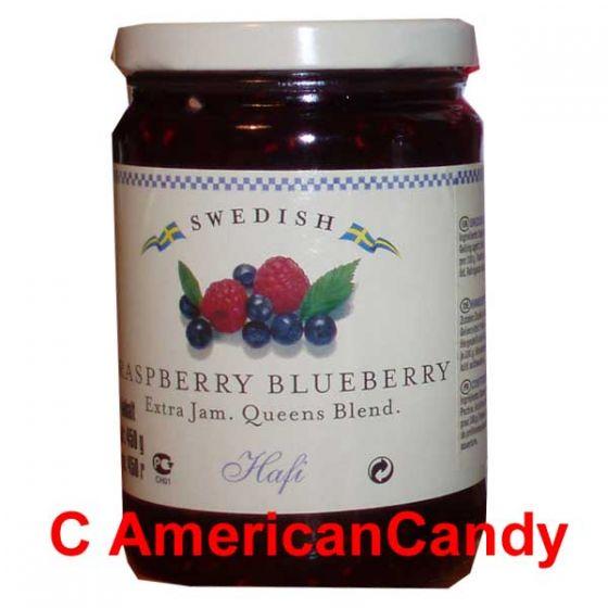 Swedish Jam Raspberry Blueberry 450g