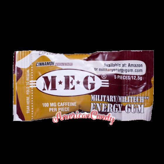 Military Stay Alert Caffeine Chewing Gum Cinnamon