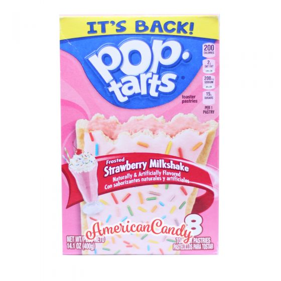 Pop Tarts Frosted Strawberry Milkshake  (2 Toast-Taschen)