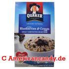Quaker Instant Oatmeal Blueberries & Cream 350g