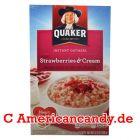 Quaker Instant Oatmeal Strawberries & Cream 350g