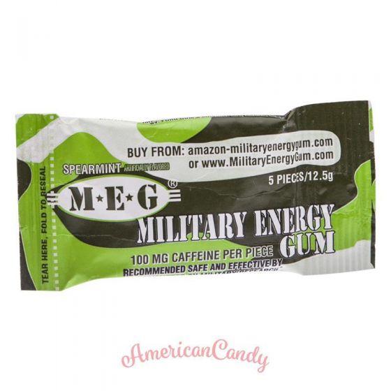 Military Stay Alert Caffeine Chewing Gum Spearmint