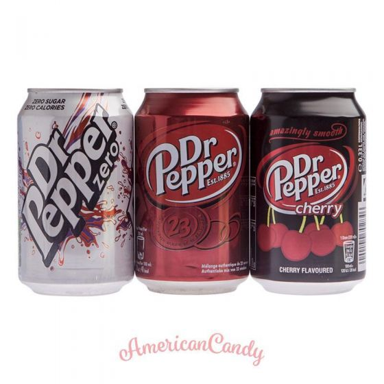 DR. PEPPER-MIX  (24 x Dr. Pepper - 3 verschiedene Sorten)