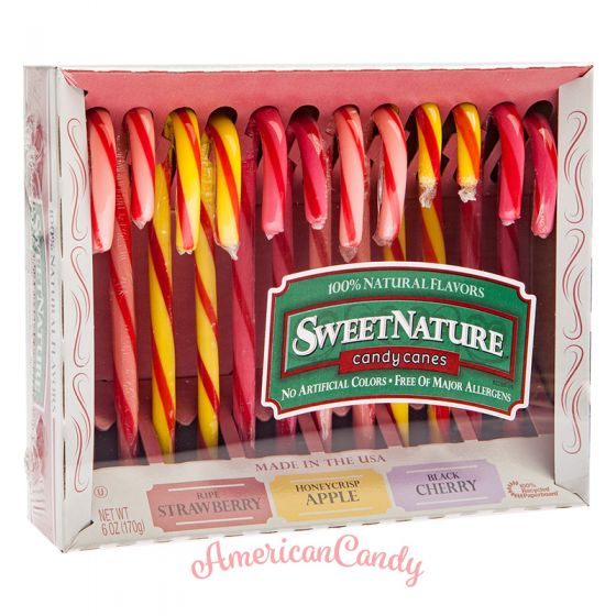 Sweet Nature Candy Canes Strawberry, Honey Apple, Black Cherry