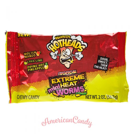 Warheads Hotheads Tropical Extreme Heat Mini Worms