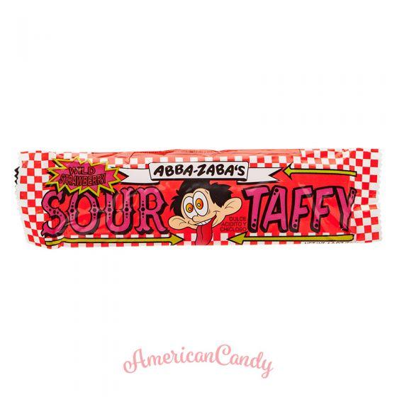 Annabelle's Abba-Zaba's Wild strawberry sour taffy
