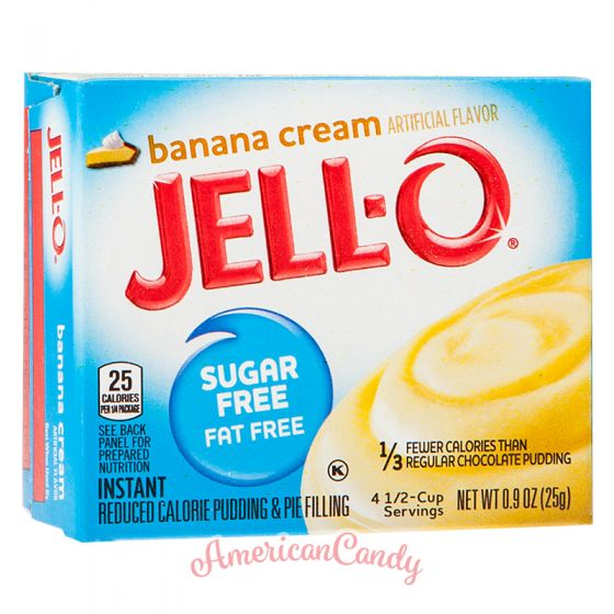 Jell-O Banana Cream Instant Pudding & Pie Filling sugar free