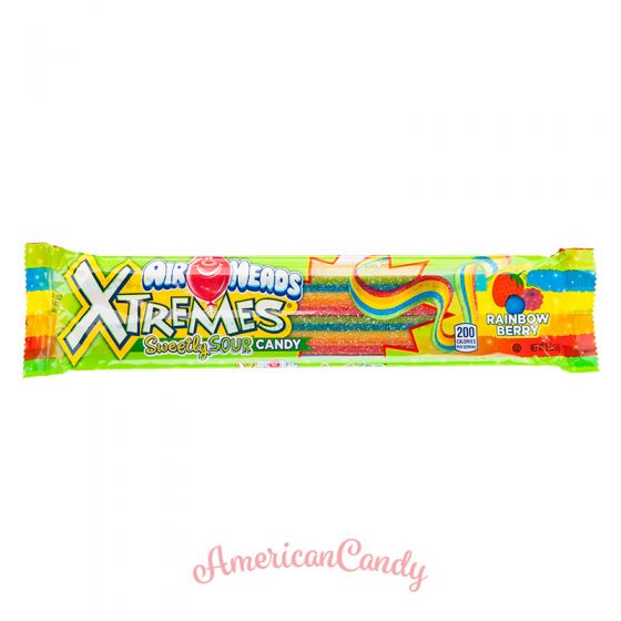Air Heads Xtremes Sweetly Sour Belts Rainbow Berry