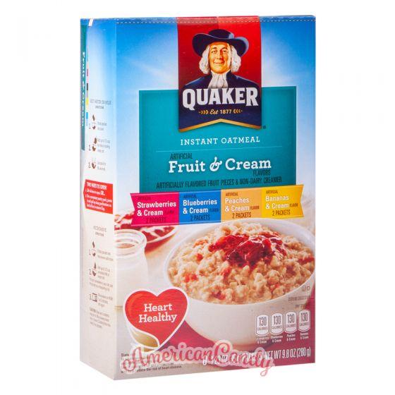 Quaker Instant Oatmeal Fruit & Cream Variety 350g