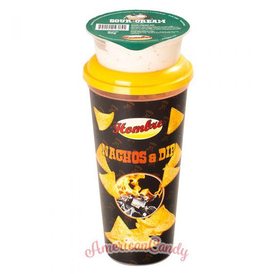 Hombre Nachos 75 g + Sour-Cream-Dip 90g