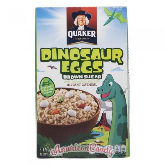 Quaker Instant Oatmeal Dinosaur Eggs Brown Sugar 400g