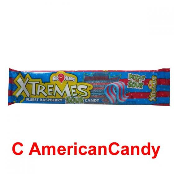 Air Heads Xtremes Sweetly Sour Belts Bluest Raspberry
