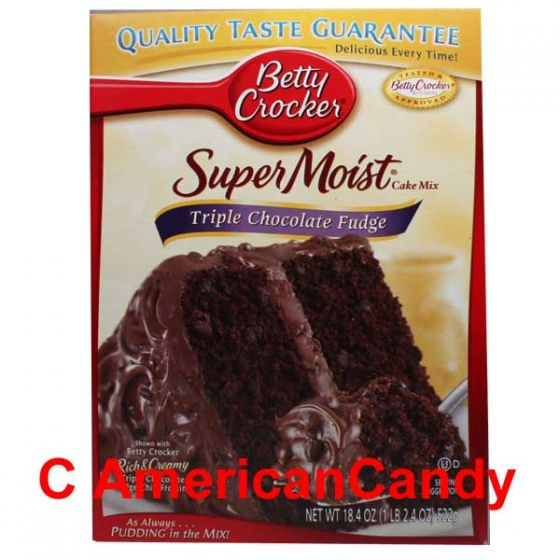 Betty Crocker Super Moist Triple Chocolate Fudge Cake Mix 432g