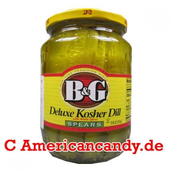 B&G Deluxe Kosher Dill Spears 710ml