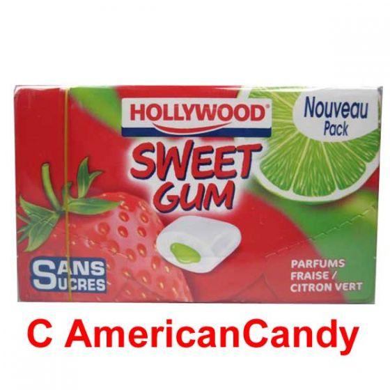 Hollywood Sweet Gum Fraise Citron Vert