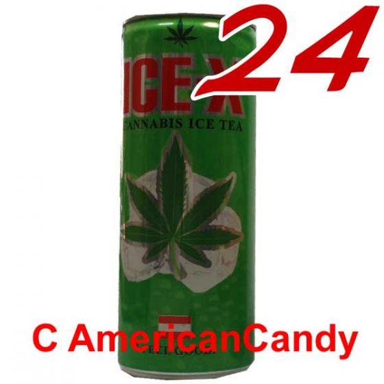 24x Ice-X Cannabis Ice Tea incl. Pfand