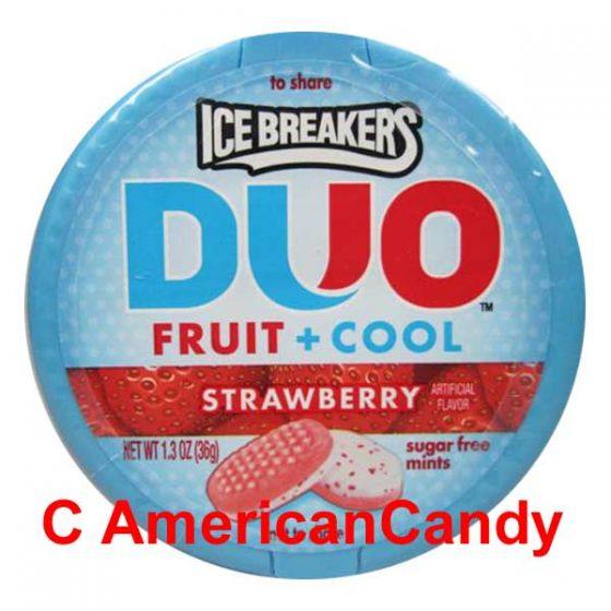 Ice Breakers Mints DUO Fruit + Cool Strawberry sugar free