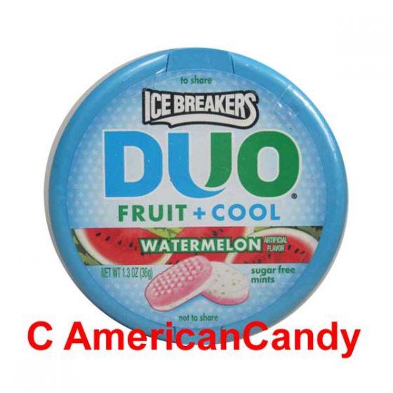 Ice Breakers Mints DUO Fruit + Cool Watermelon sugar free