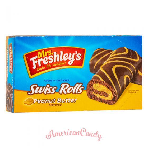 Mrs. Freshley's Swiss Rolls Peanut Butter