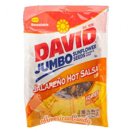 David Sunflower Seeds Jalapeno Hot Salsa 149g
