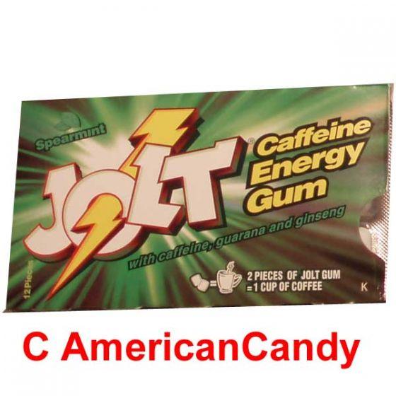 Jolt Caffeine Energy Gum Spearmint