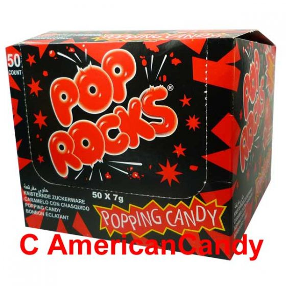 Pop Rocks Popping Candy Strawberry Big Pack 50er