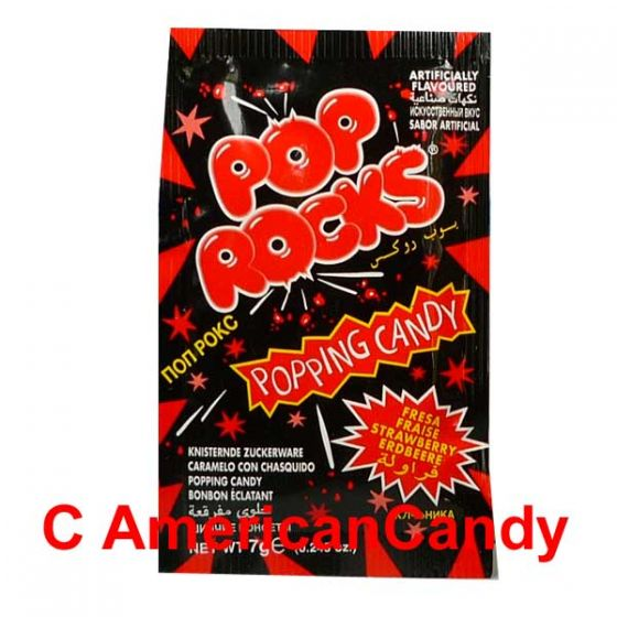 Pop Rocks Popping Candy Strawberry 7g