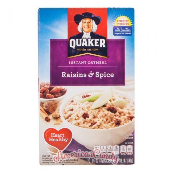 Quaker Instant Oatmeal Raisins & Spice