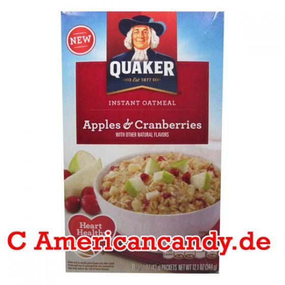 Quaker Instant Oatmeal Apples & Cranberries 344g