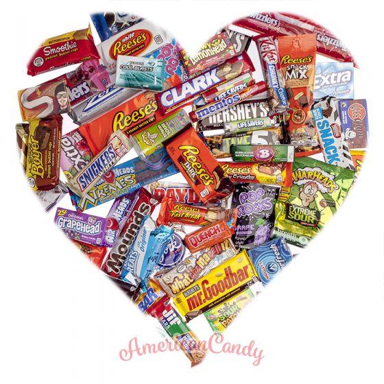 Valentins-Süssigkeiten-Mix