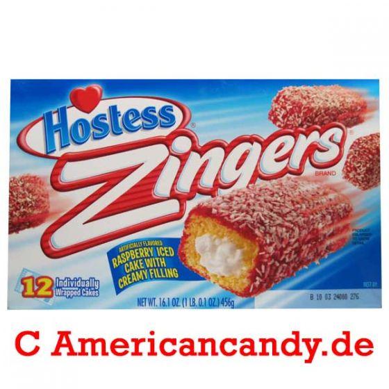 Hostess Zingers Raspberry Iced Cake (10 single Cakes) 456g