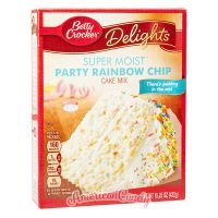Betty Crocker Super Moist Party Rainbow Chip Cake Mix 432g