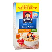 Quaker Instant Oatmeal Flavor Variety 404g