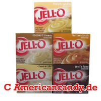 KNÜLLER:  JELL-O PUDDING MIX (5 verschiedene Jell-O Puddinge)