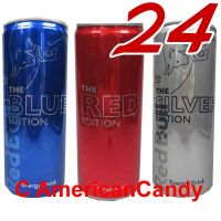 24x MIX RED BULL THE BLUE, RED & SILVER EDITION