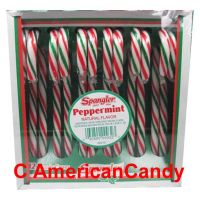 Spangler Candy Canes Peppermint red, white & green 170g