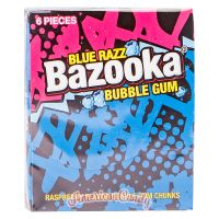 Bazooka Blue Razz Bubble Gum