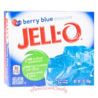 Jell-O Instant Pudding Gelatin Dessert Berry Blue