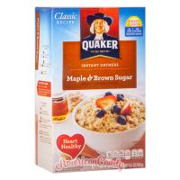 Quaker Instant Oatmeal Maple & Brown Sugar 430g