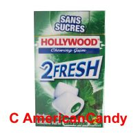 Hollywood 2Fresh Chewing Gum Parfum Menthe Verte Chlorophylle